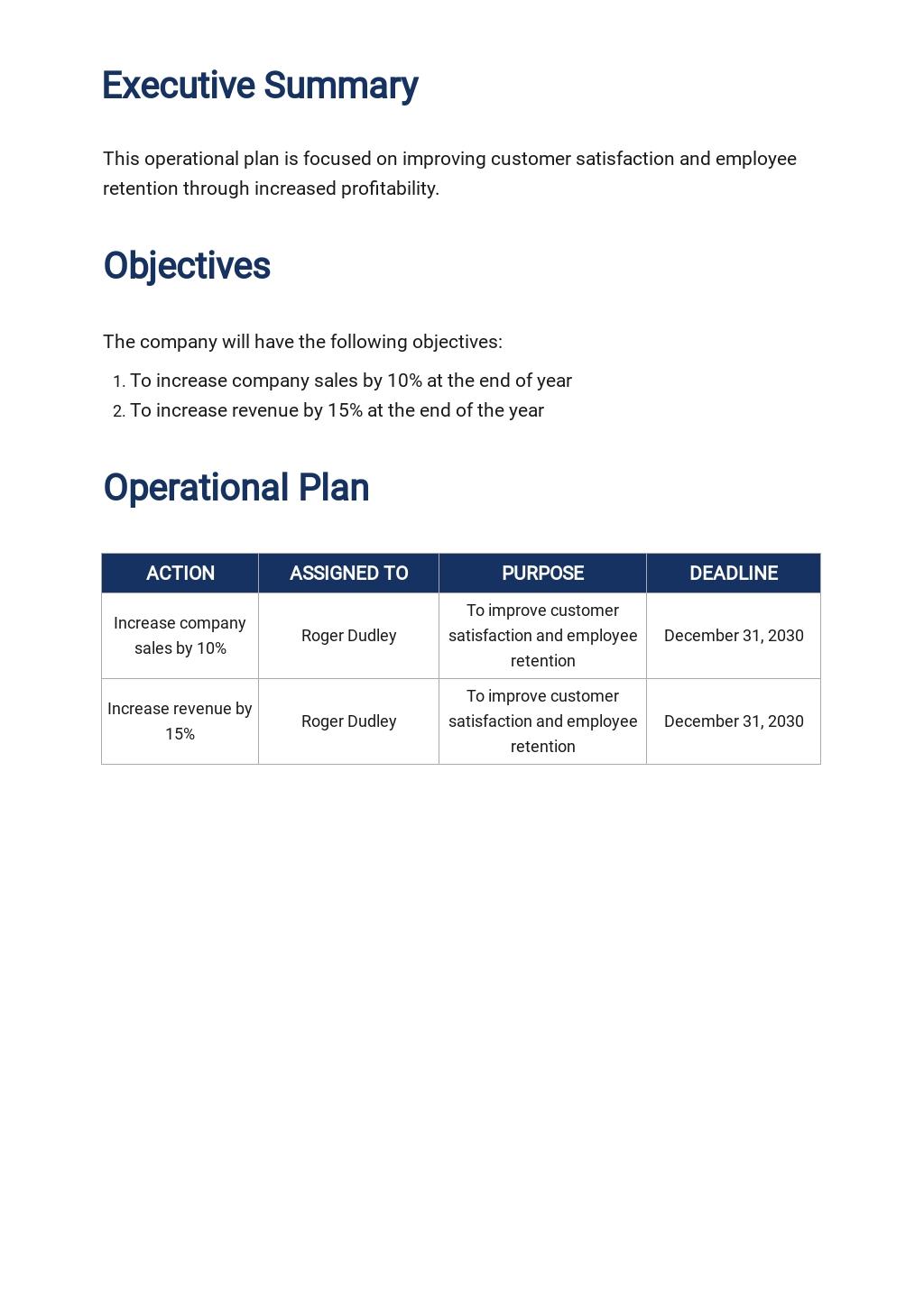 Free Simple Operational Plan Template 1.jpe