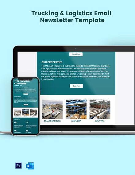Trucking Logistics Email Newsletter Template