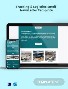 Trucking Logistics Email Newsletter Template