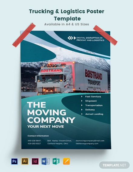 Trucking Logistics Poster Template