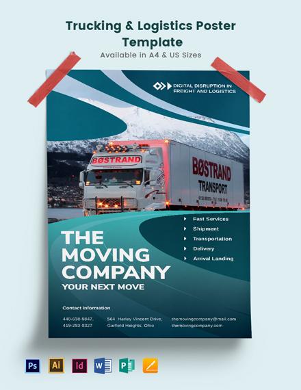 Trucking Logistics Poster Template
