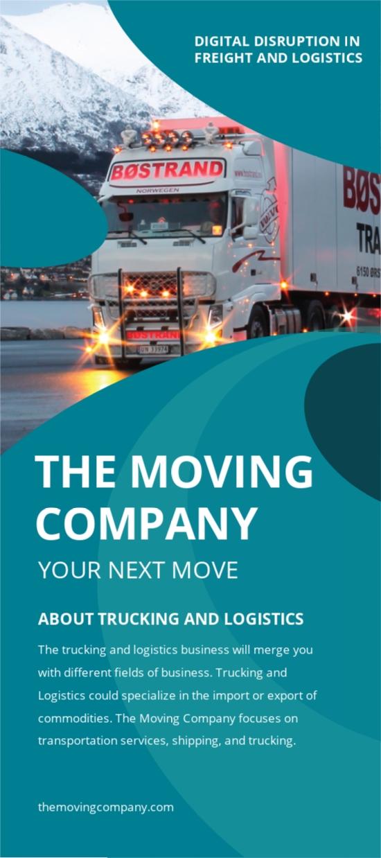 Trucking Logistics Rack Card Template