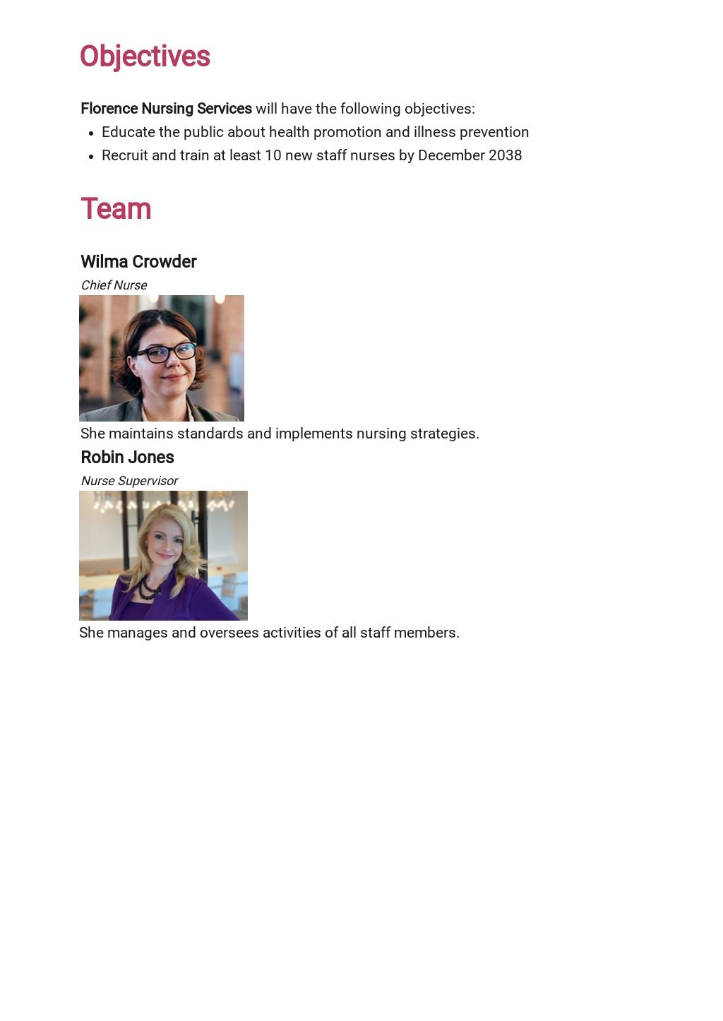 Free Nursing Action Plan Template 1.jpe