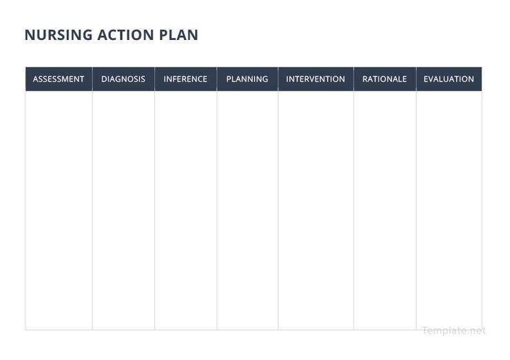 Free Nursing Action Plan Template