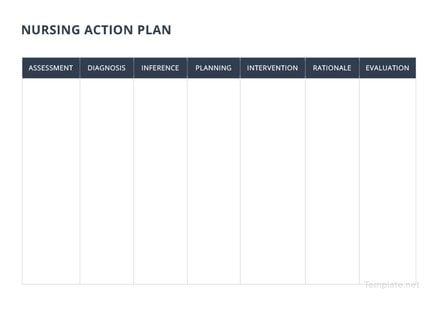 Nursing Action Plan Template