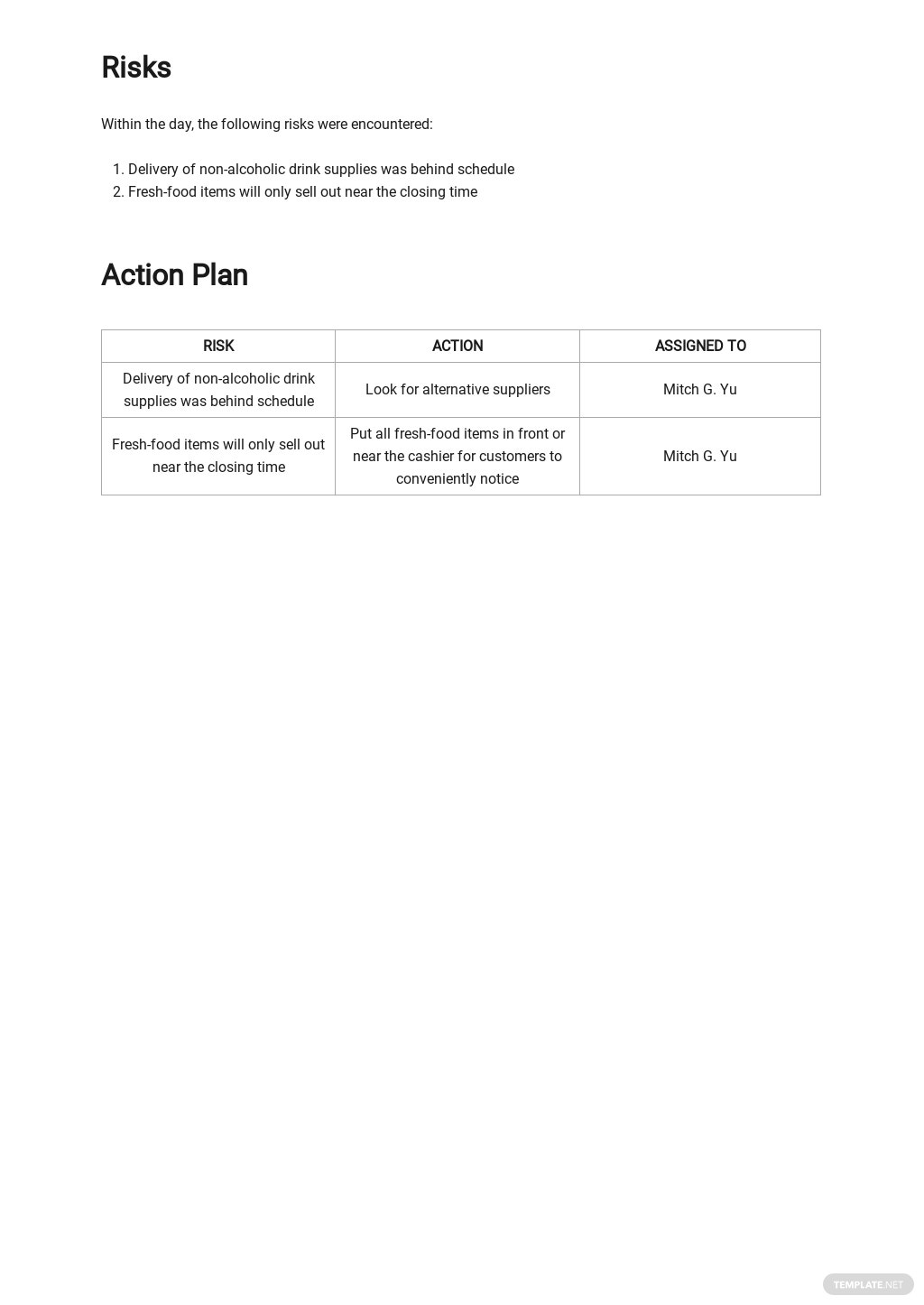 Free Daily Sales Activity Report Template 3.jpe