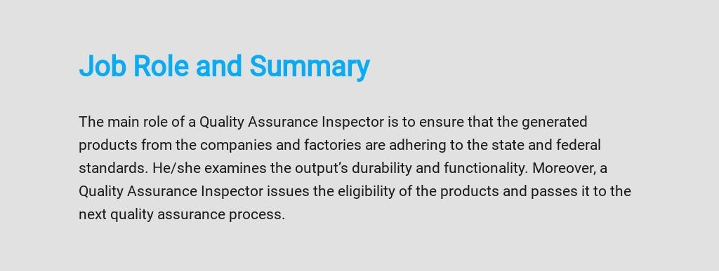 Free Quality Assurance Inspector Job Description Template 2.jpe