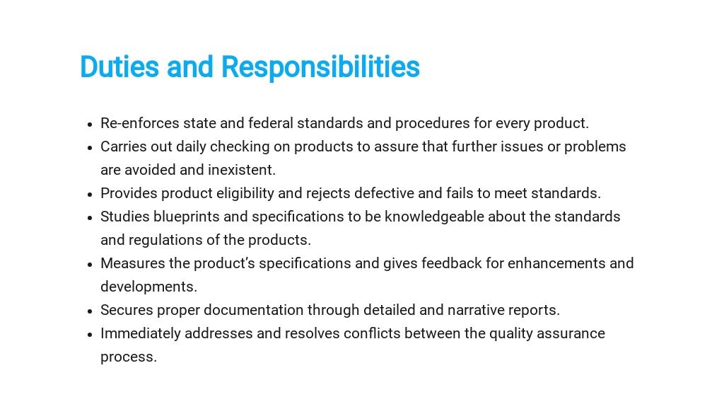 Free Quality Assurance Inspector Job Description Template 3.jpe