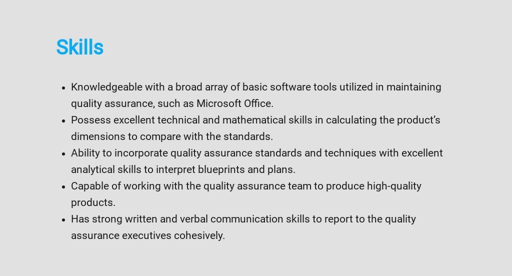 Free Quality Assurance Inspector Job Description Template 4.jpe