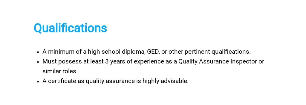 Free Quality Assurance Inspector Job Description Template 5.jpe