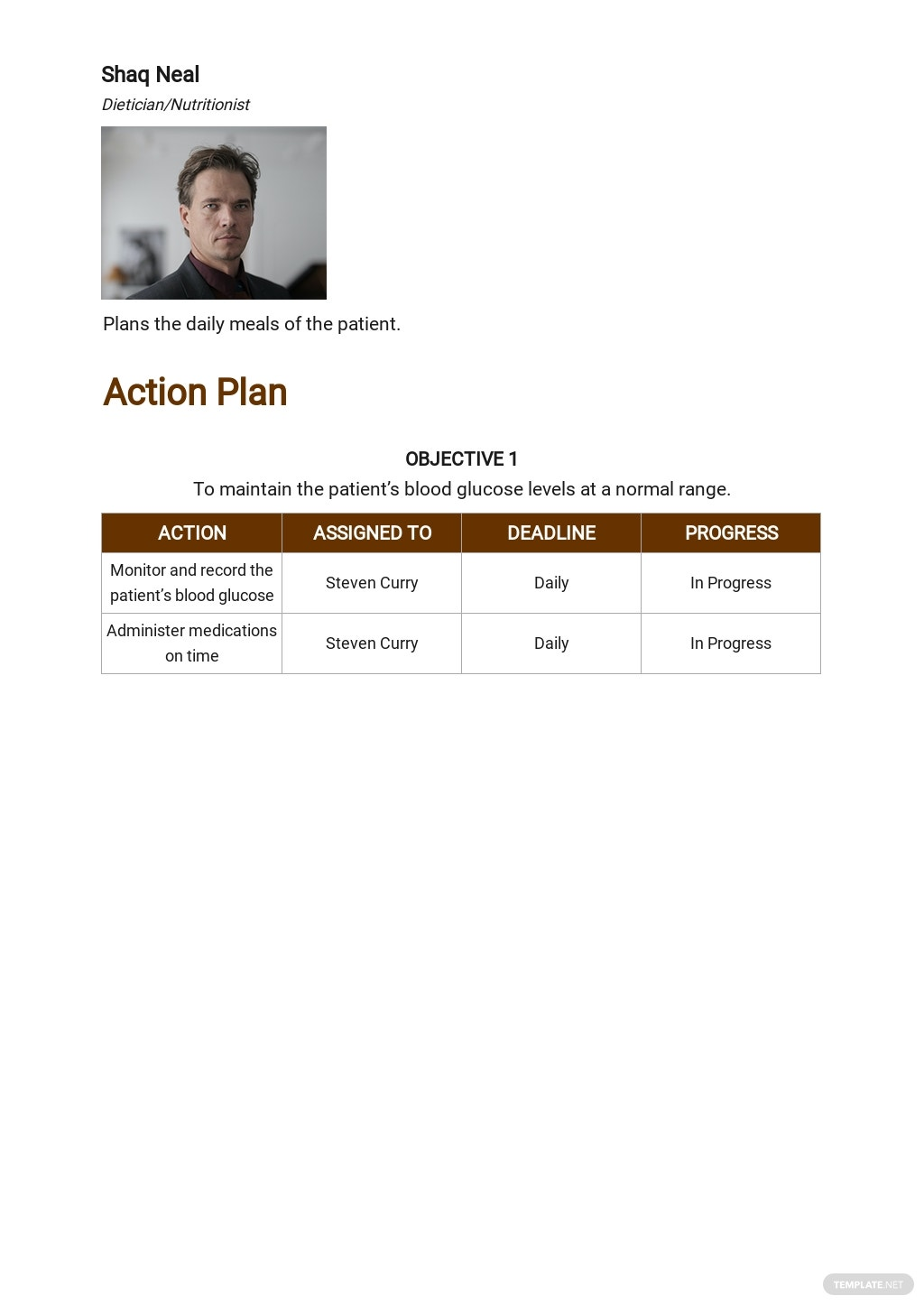 Free Patient Care Plan Template 2.jpe