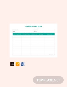 Free Sample Nursing Care Plan Template