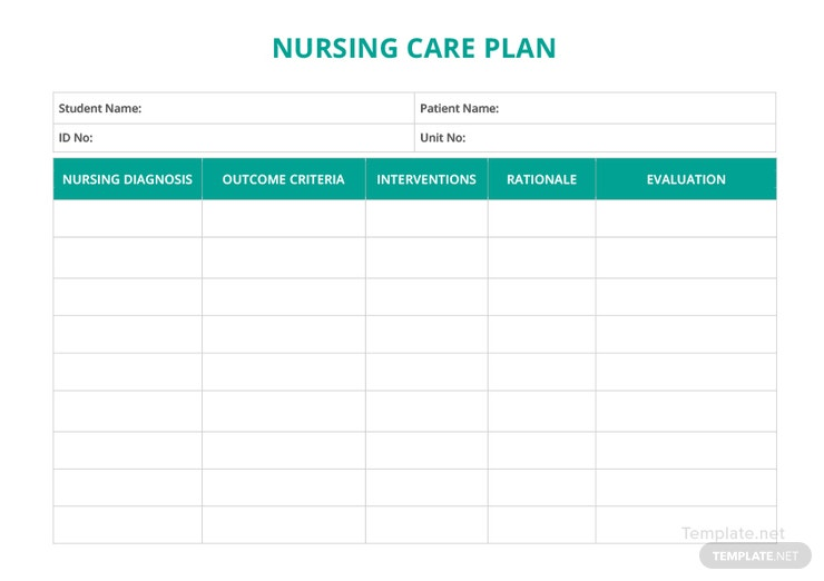 5 Nursing Care Plan Templates In Word Pdf Apple Pages Template Net