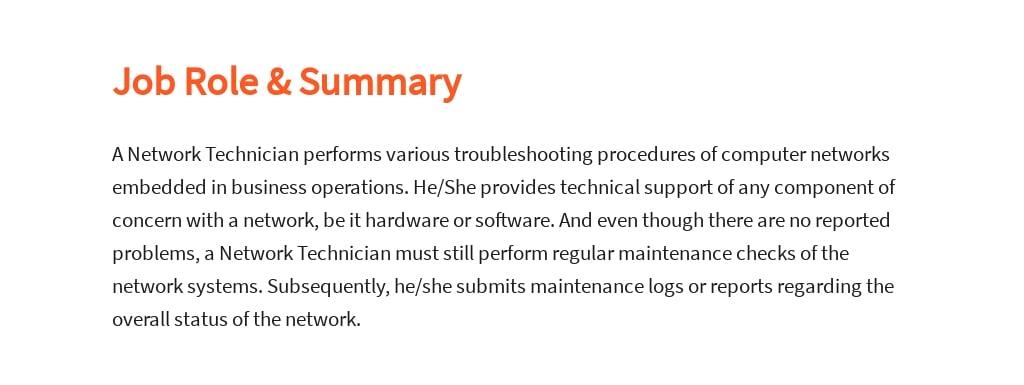 Free Network Technician Job Ad/Description Template 2.jpe