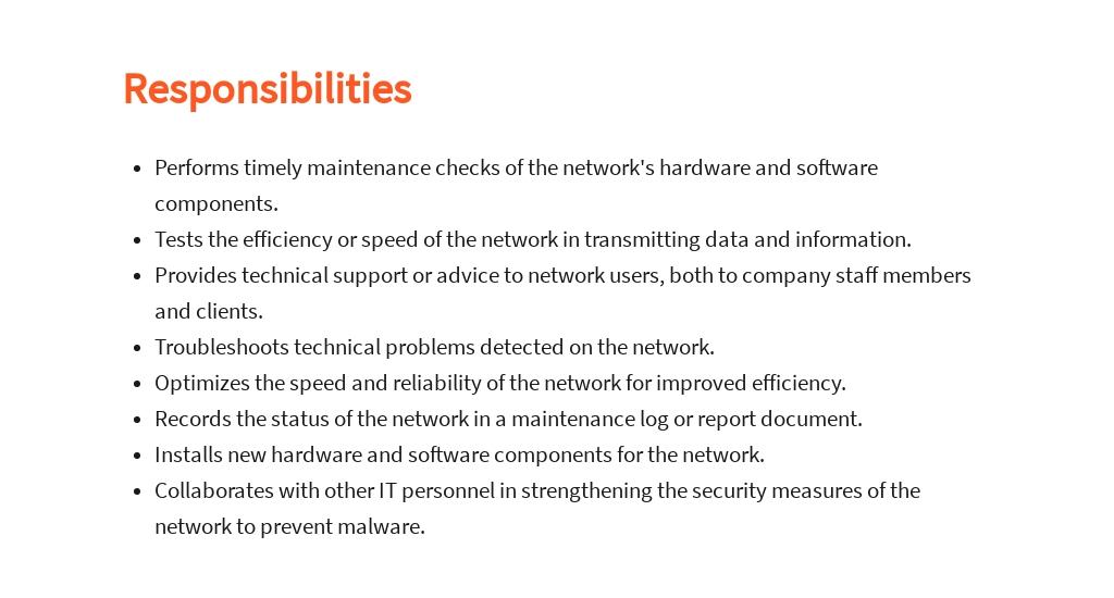 Free Network Technician Job Ad/Description Template 3.jpe