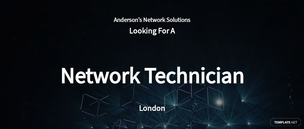 Network Technician Job Ad/Description Template
