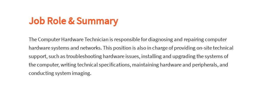 Free Computer Hardware Technician Job Ad/Description Template 2.jpe