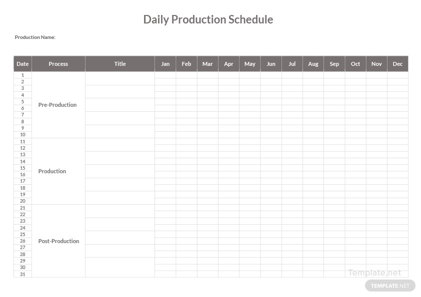 daily production schedule template in microsoft word. Black Bedroom Furniture Sets. Home Design Ideas