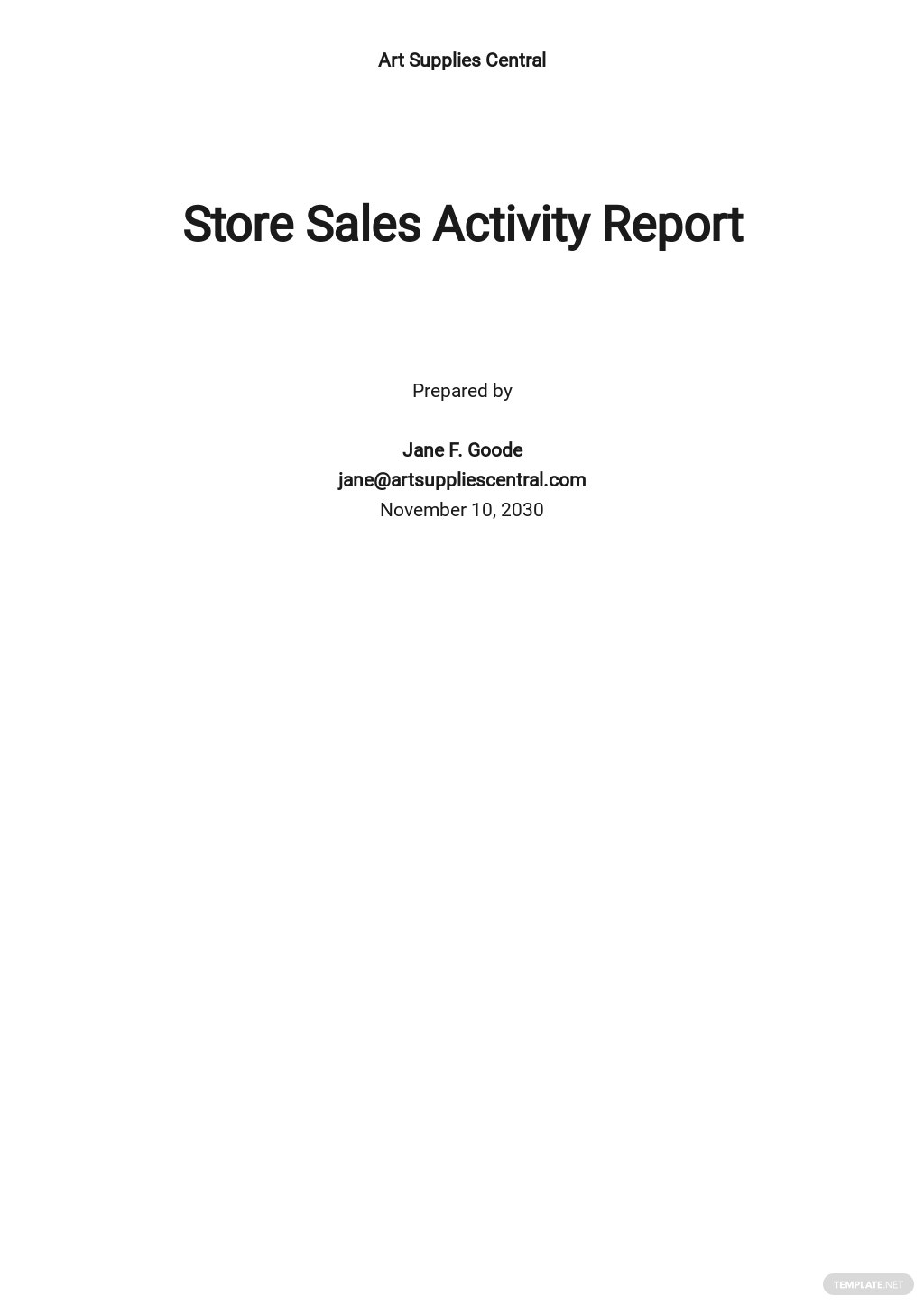 Free Sales Activity Report Sample.jpe