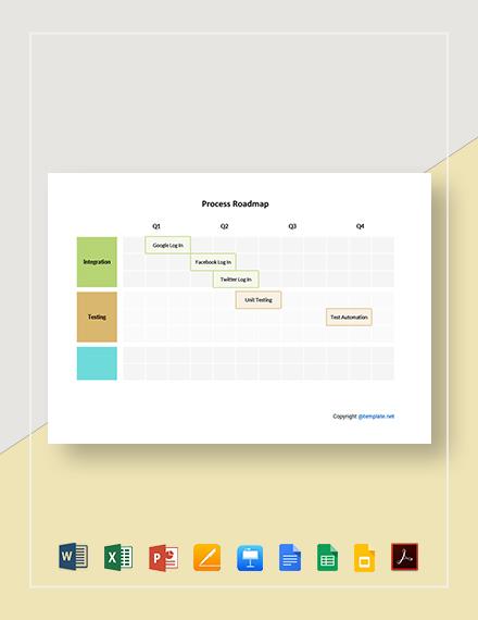 Free Simple Process Roadmap Template