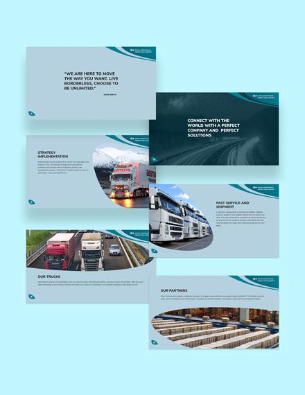 Trucking Logistics Presentation Printable