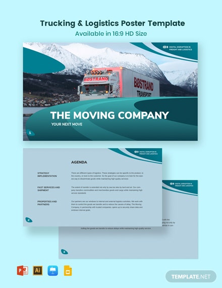 Trucking Logistics Presentation Template