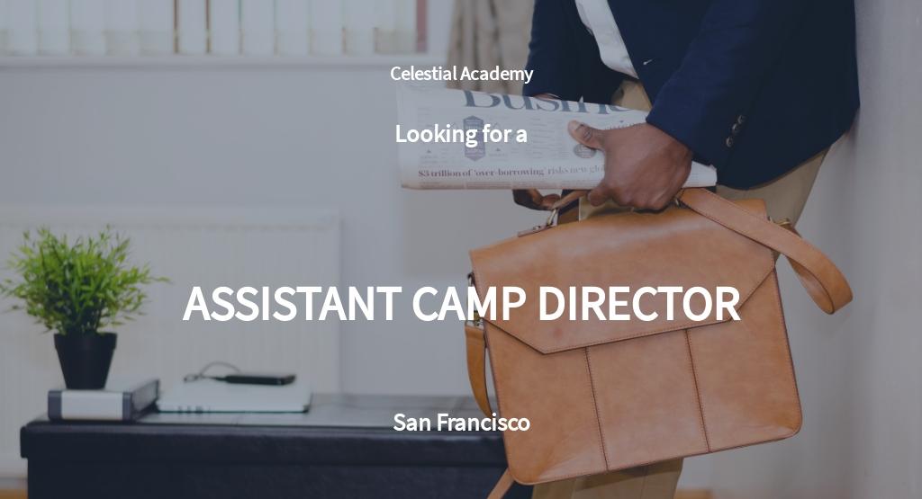 Assistant Camp Director Job Description Template