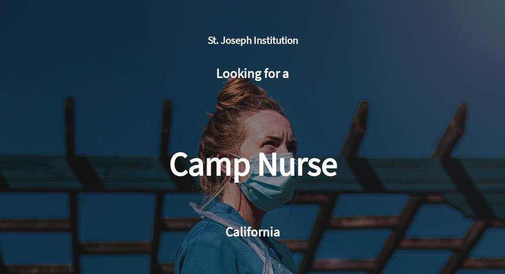 Camp Nurse Job Ad/Description Template