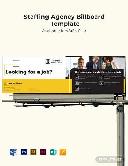 Staffing Agency Billboard Template