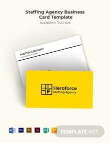 Staffing Agency Business Card Template
