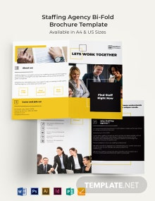 Staffing Agency Bi-Fold Brochure Template