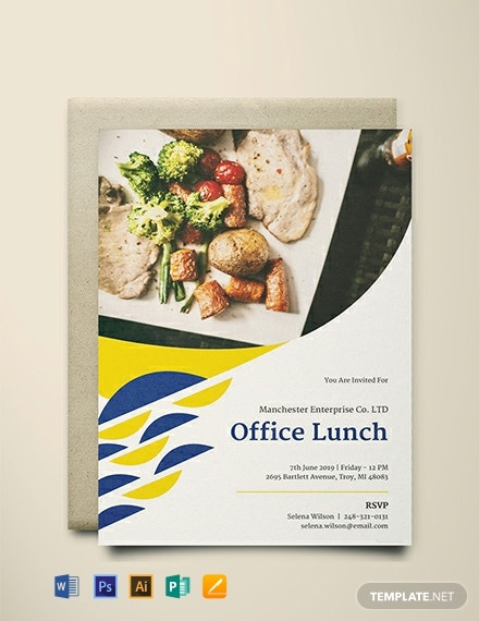 Free Office Lunch Invitation Template Download 634 Invitations In