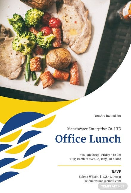 Free Office Lunch Invitation Template in Microsoft Word, Microsoft ...