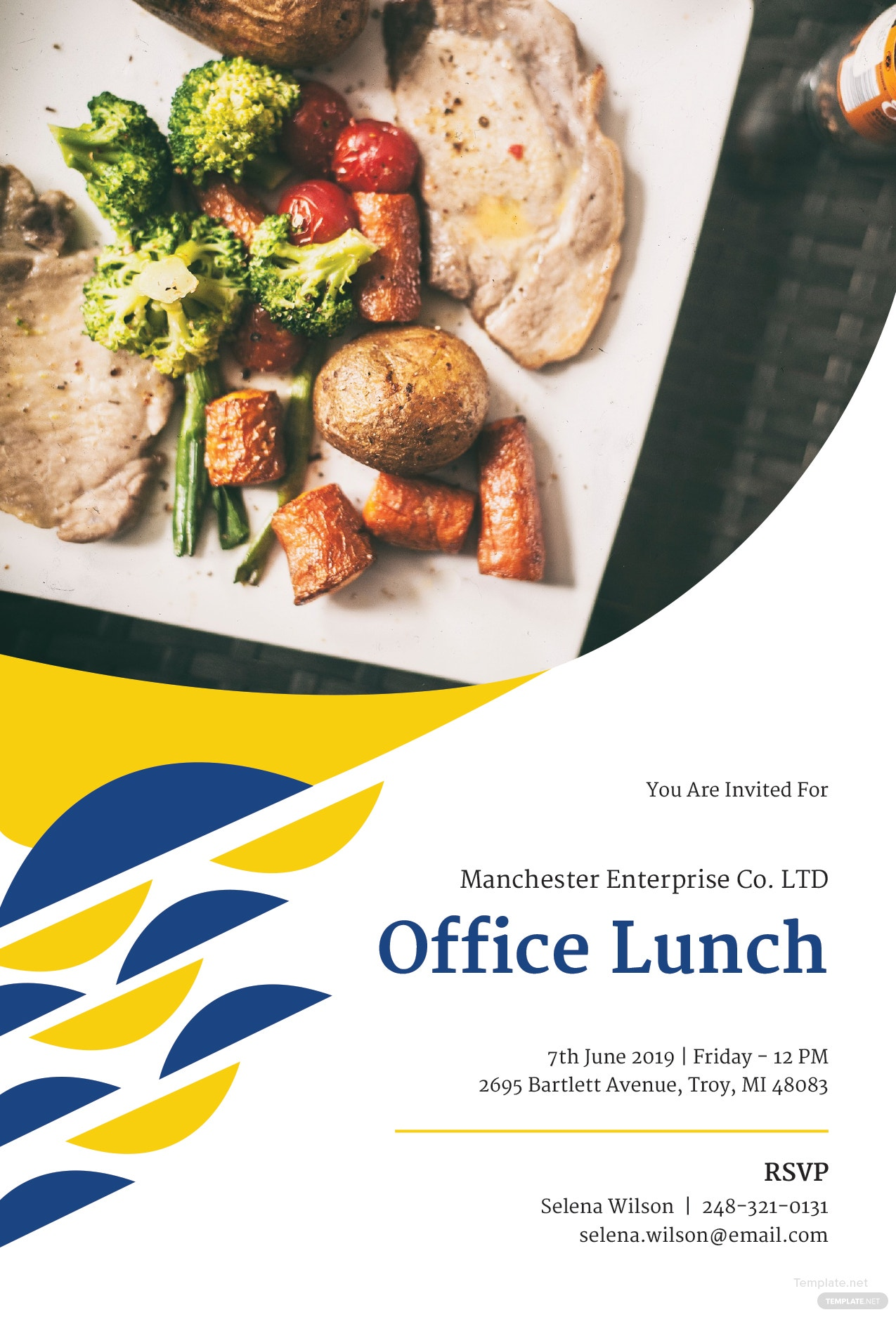 free office lunch invitation template in microsoft word