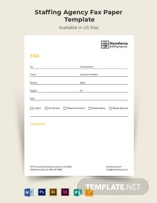 Staffing Agency Fax Paper Template