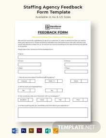 Staffing Agency Feedback Form Template