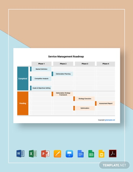 Free Sample Service Management Roadmap Template