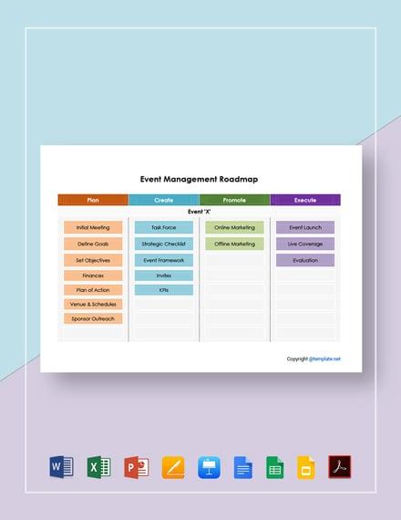 Simple Event Management Roadmap Template