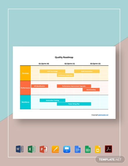 Free Simple Quality Roadmap Template
