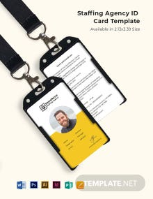 Staffing Agency ID Card Template