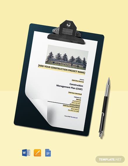 Free Sample Construction Management Template