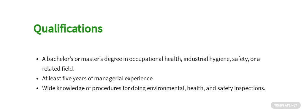 Free Environmental Health And Safety Manager Sample Job Description Template 5.jpe