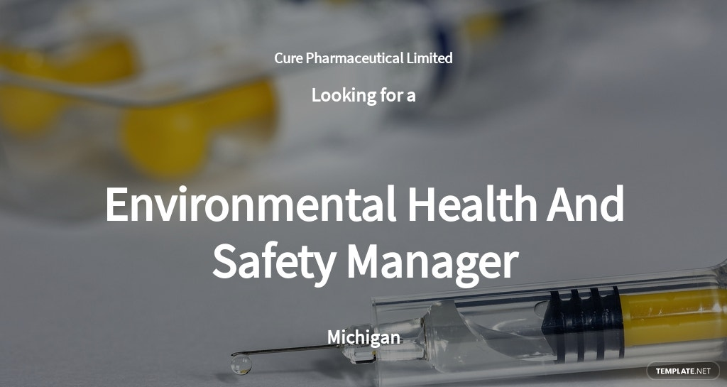 Free Environmental Health And Safety Manager Sample Job Description Template.jpe