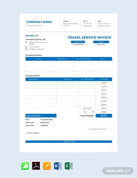 Free-Travel-Service-Invoice-Template