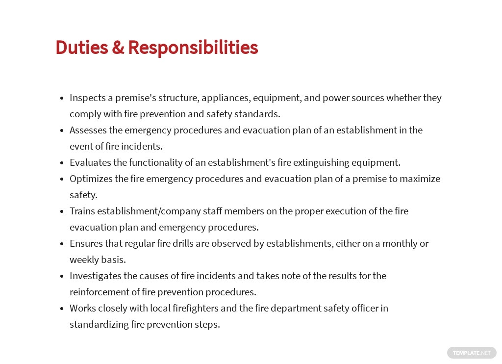 Free Fire Safety Specialist Job Ad/Description Template 3.jpe
