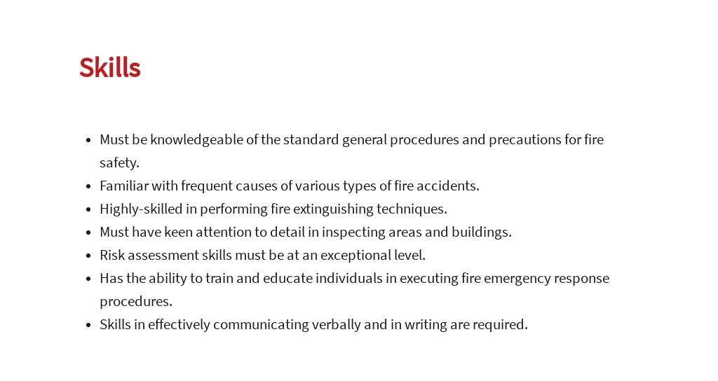 Free Fire Safety Specialist Job Ad/Description Template 4.jpe