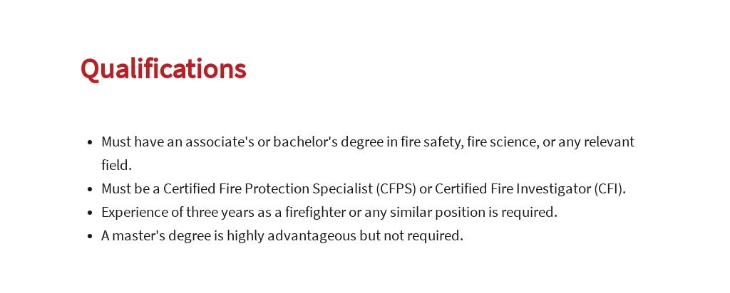 Free Fire Safety Specialist Job Ad/Description Template 5.jpe
