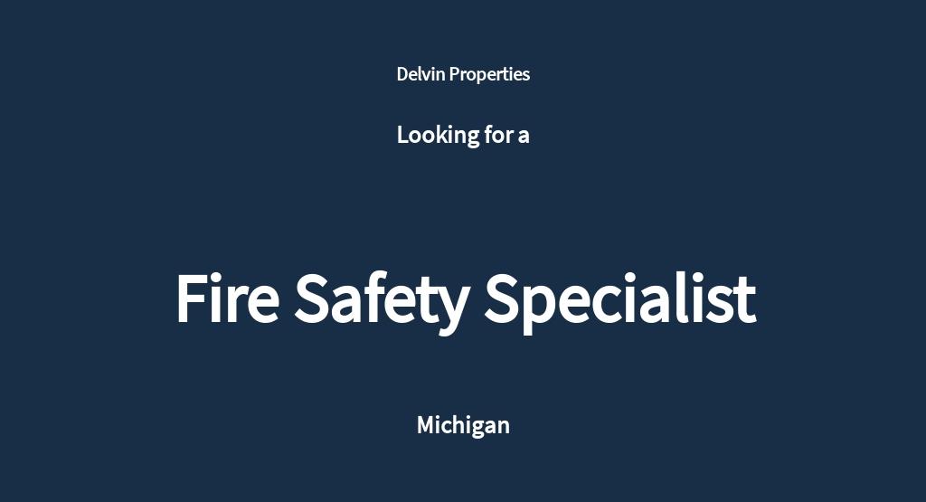Free Fire Safety Specialist Job Ad/Description Template.jpe