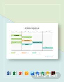 Free Editable Program Roadmap Template