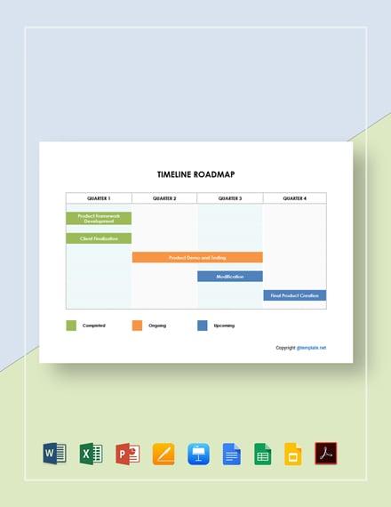 Free Editable Timeline Roadmap Template